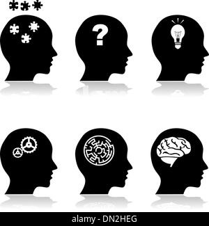Thinking heads - Stock Photo