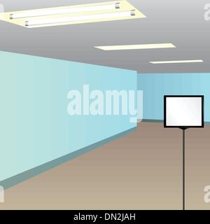 Information plaque hallway - Stock Photo