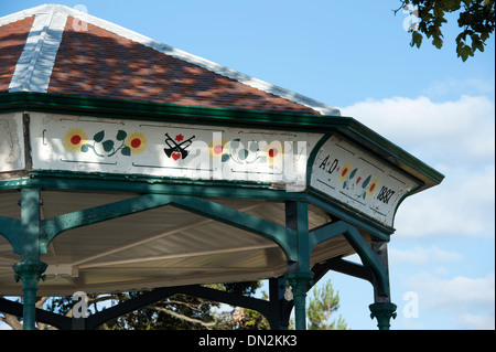 1887 Band Stand Bandstand Clevedon North Somerset - Stock Photo