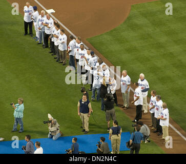 Sep 18, 2006; Los Angeles, CA, USA;  Members of the Los Angeles Dodgers'  1981 team celebrated their 25th aniversary - Stock Photo