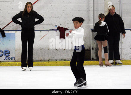 Oct 27, 2006; Antioch, CALIFORNIA, USA; KEVIN SHUM, 9 years-old of Piedmont, during a practice session at the Oakland - Stock Photo