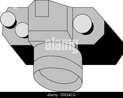 Professional slr camera - Stock Photo