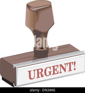 Stamp urgent - Stock Photo