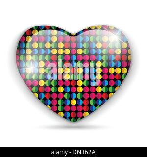 Glass Heart Dots Color Texture - Stock Photo