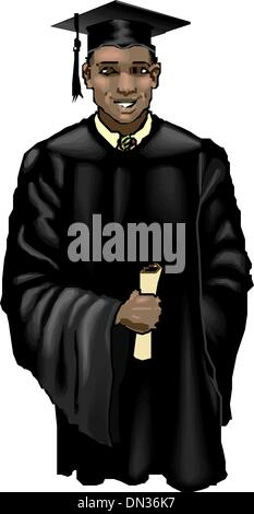 Young graduation man - Stock Photo