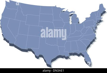 Vector color map of Delaware state Usa Stock Photo Royalty Free