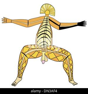 God of virility - primitive art - Stock Photo