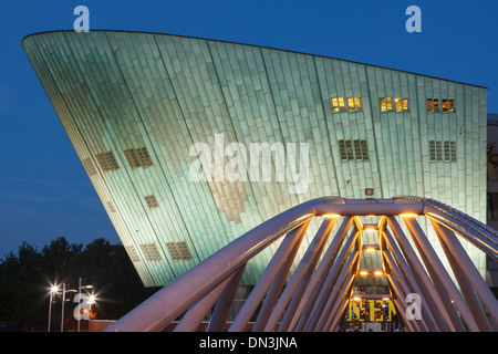Amsterdam, the Netherlands, the Science Center NEMO was designed by the Italian architect Renzo Piano. - Stock Photo