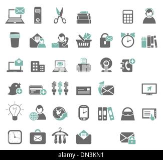 Office icons7 - Stock Photo