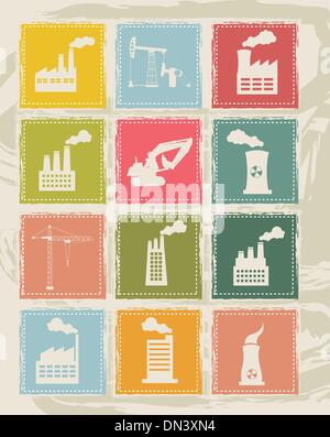 industry icons - Stock Photo