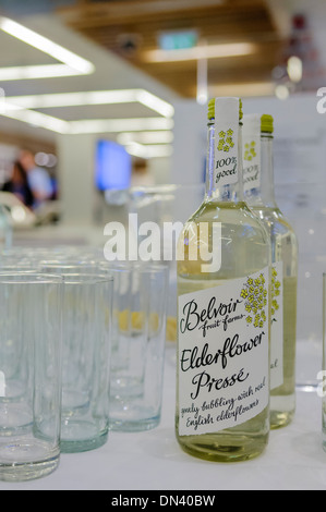 Belvoir fruit farms elderflower pressé (non-alcoholic wine) - Stock Photo