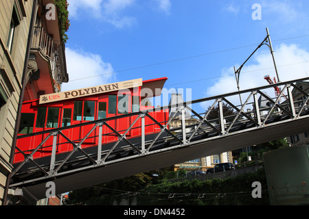 Switzerland, Zurich, polybahn to University. - Stock Photo