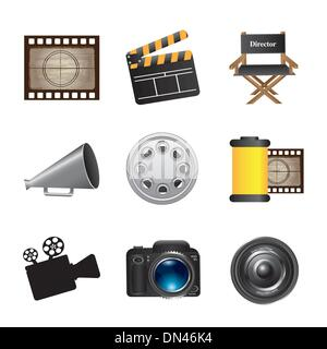 Icons movie - Stock Photo