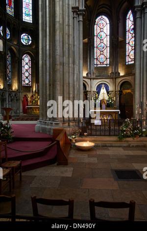 Roman Catholic Cathedral in Dijon, France - Cathedrale Saint-Benigne de Dijon - Stock Photo