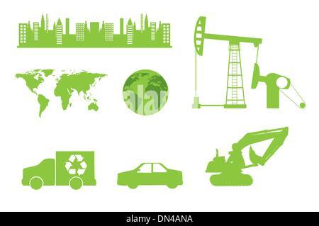 Eco icons - Stock Photo
