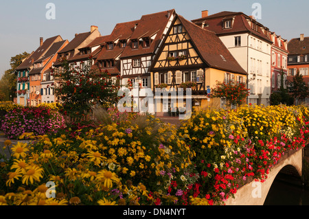 Elk213-2734 France, Alsace, Colmar, Petit Venise with half-timbered houses - Stock Photo