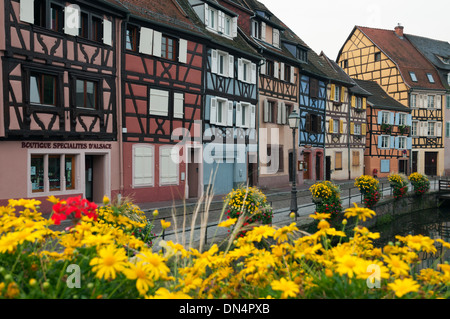 Elk213-2751 France, Alsace, Colmar, Petit Venise with half-timbered houses - Stock Photo