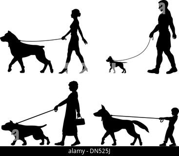 Dog owner variety - Stock Photo