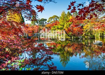 Eikando Gardens in Kyoto, Japan - Stock Photo