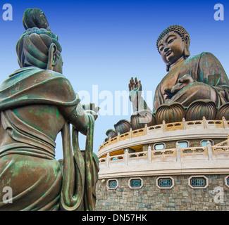 Big Buddha of Lantau Island in Hong Kong, China. - Stock Photo