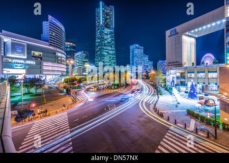 Yokohama, Japan cityscape. - Stock Photo