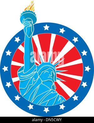 Liberty statue - Stock Photo