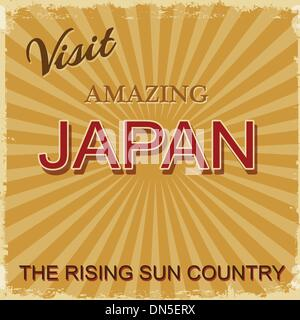 Vintage touristic poster - Japan - Stock Photo