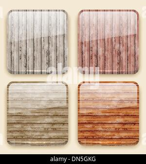 Wooden backgrounds for the app icons - Stock Photo