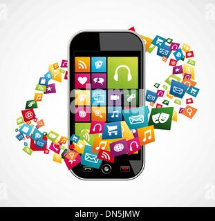 Smartphone mobile applications - Stock Photo