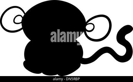 Kawaii Monkey Animal Toy Vector Illustration Eps 10 Stock