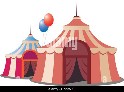 ... stylized circus tent isolated on white background - Stock Photo  sc 1 st  Alamy & Cartoon circus tent isolated on white background Stock Vector Art ...