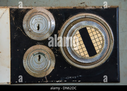 Old safe to store valuable possessions in the home. - Stock Photo