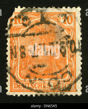 Postage stamp: Germany, AM Post, post mark, stamp, post stamp, - Stock Photo