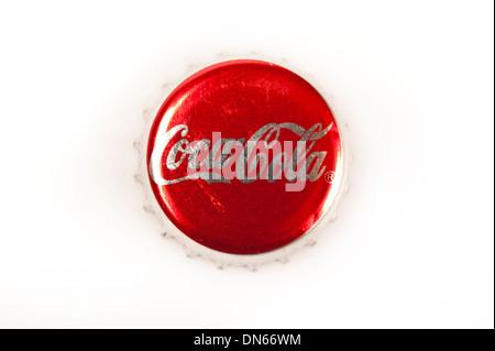 Coca Cola bottle cap - Stock Photo