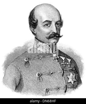 Portrait of Count Josip Jelačić of Bužim, 1801 - 1859, the Ban of Croatia, army general - Stock Photo
