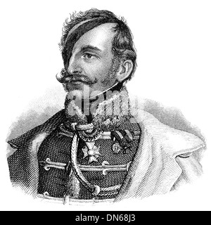 Portrait of Franz Joseph von Schlik of Bassano and Weisskirchen, 1789 - 1862, an Earl and Austrian general, - Stock Photo