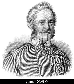 Portrait of Eugen Count Wratislaw von Mittrowitz-Nettolitzky, 1786 - 1867, an Austrian Fieldmarshal, - Stock Photo