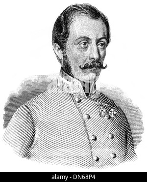 Portrait of Ludwig August Ritter von Benedek or Lajos Benedek, 1804 - 1881, an Austrian general of Hungarian descent, - Stock Photo