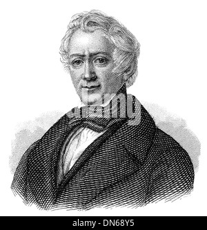 Friedrich Ludwig Georg von Raumer, 1781 - 1873, a German historian and politician, - Stock Photo