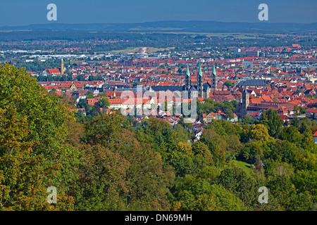 View of Bamberg, Upper Franconia, Bavaria, Germany - Stock Photo