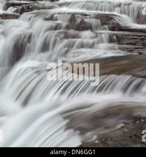 McDonald Falls in Glacier National Park - Stock Photo