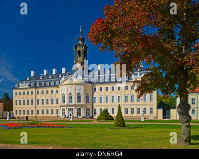 Hubertusburg Palace Hunting Lodge in Wermsdorf, Saxony, Germany - Stock Photo