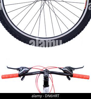 wheel mountain bike isolated on white - Stock Photo