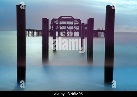 The Remains Of The West Pier, Hove, East Sussex, England, Uk