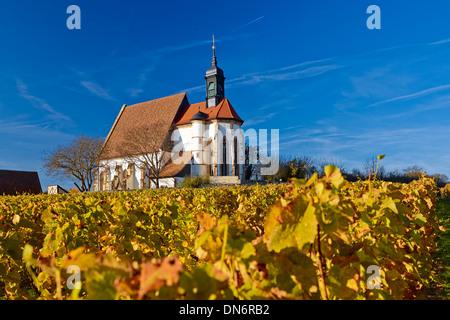Church of Maria im Weingarten, Volkach on the Main, Lower Franconia, Bavaria, Germany - Stock Photo