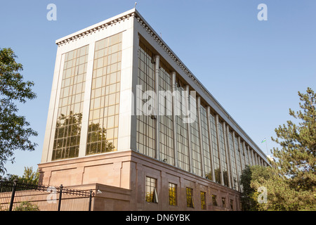 A government building, Parliament, Independence Square, Mustakillik Maydoni, Tashkent, Uzbekistan - Stock Photo