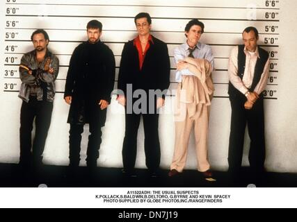 Jan. 16, 2001 - A11522ADH: THE USUAL SUSPECTS.K.POLLACK,S.BALDWIN,B.DELTORO, G.BYRNE AND KEVIN  SPACEY. SUPPLIED - Stock Photo