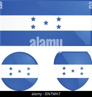 Honduras flag and emblem - Stock Photo