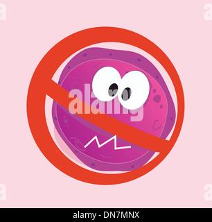 Stop virus - aids virus in red alert sign - Stock Photo