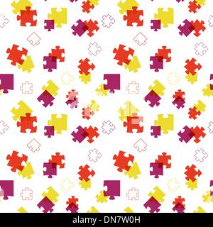 The abstract puzzle background - Stock Photo